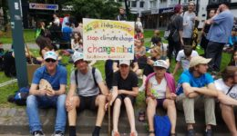 Bernd Kaufmann auf der Klimademo in Aachen